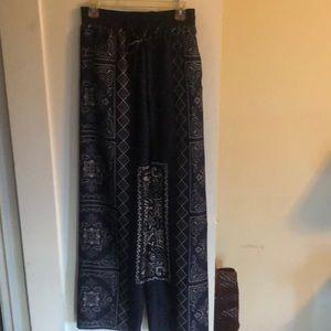 Zara blue bandana pants